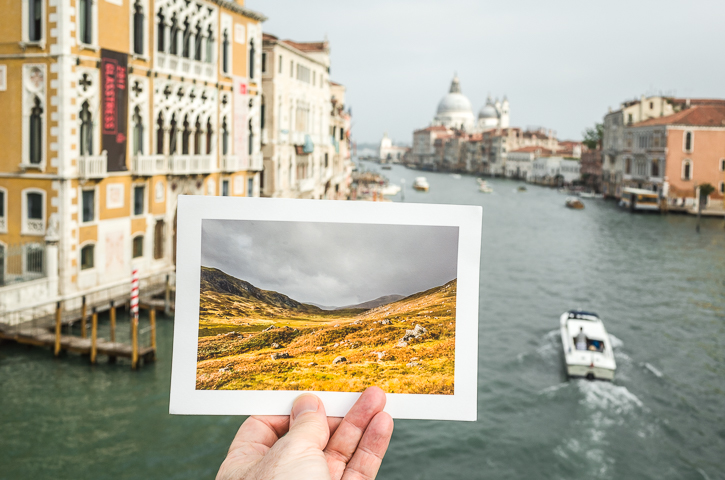 Glen Beanie by the Grand Canal, Venice. © George Logan 2017