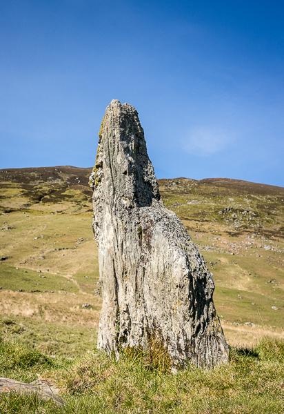 Stone circle remnant Clach Na Toimpan, Almond © George Logan 2019